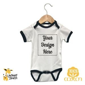 The Laughing Giraffe® Natural Long Sleeve Baby Bodysuit