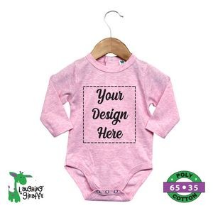 The Laughing Giraffe® Cotton Candy Long Sleeve Snap-Back Baby Bodysuit