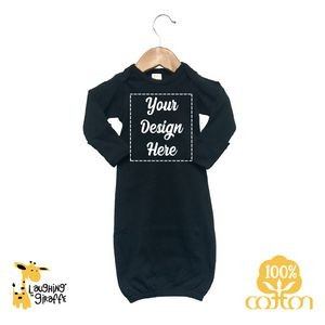 The Laughing Giraffe® Baby Leopard Print Short Sleeve Lap T Bodysuit