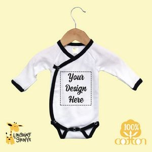 The Laughing Giraffe® Baby Long Sleeve Bodysuit w/Fold Over Mittens